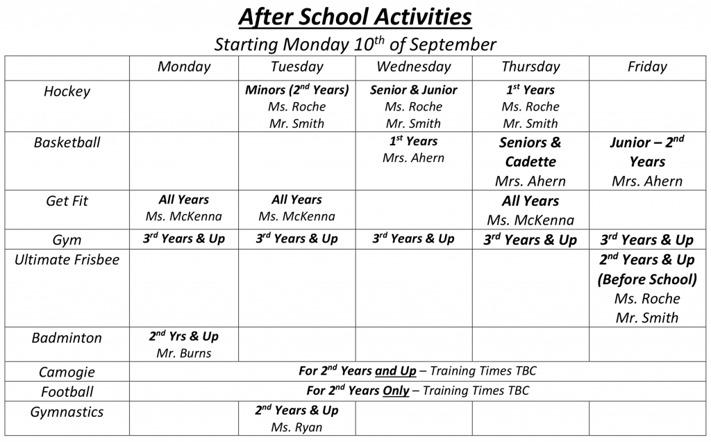 Extra Curricular Activities   St  Dominic's College CabraSt