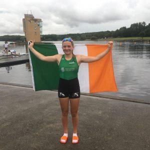 Emily Loftus represents Ireland in rowing