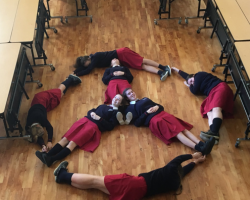 TY students Peace Sign